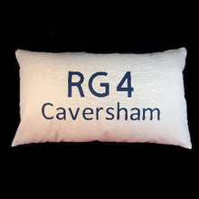 Load image into Gallery viewer, Postcode Cushion - 50x30cm Cotton Cushion Personalised With Your Choice of Postcode and Town Name