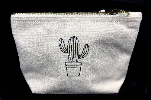 Cactus Bag - Cotton Pouch Storage Makeup Bag
