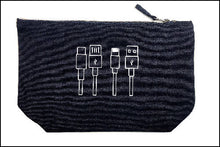 Load image into Gallery viewer, Cables Tidy Bag - Cotton Accessory Pouch -Makeup Bag