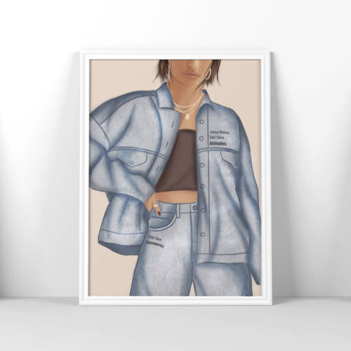 Strong Women Don't Have Attitudes Fashion Print