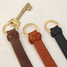 Load image into Gallery viewer, Kingsbury Leather Keyring with Plait Detail