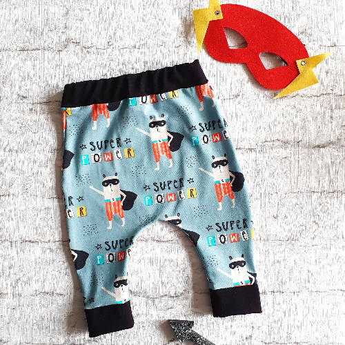 Superhero animal print children's hareem joggers