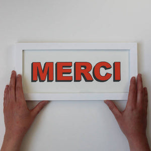 MERCI - Screen print
