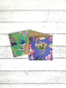 Here comes the Sun 6 Floral Greetings cards pack
