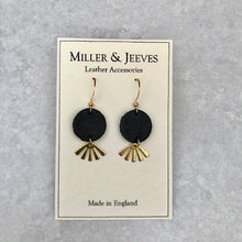 Load image into Gallery viewer, Midi Earrings - Plain Leather with Brass Charm