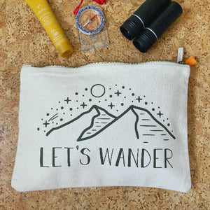 Let's Wander Pouch