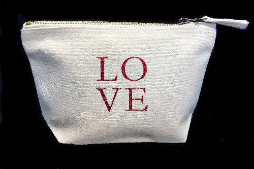 Love Bag - Cotton Pouch Storage Makeup Bag