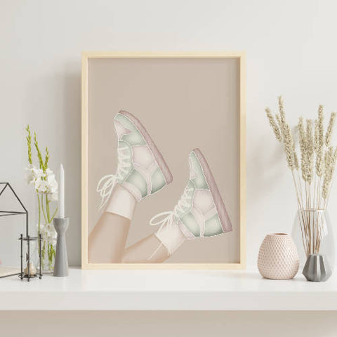 Pastel Trainers Fashion Print