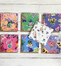 Load image into Gallery viewer, Here comes the Sun 6 Floral Greetings cards pack
