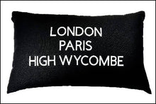 Load image into Gallery viewer, Three Towns Cushion - 50x30cm Cotton Cushion Personalised With Your Choice of Towns/Cities