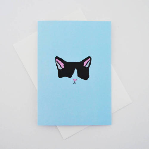 Black Cat Greetings Card