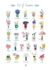 Alphabet of Flowers Art Print