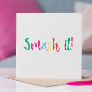 Smash It Good Luck Card