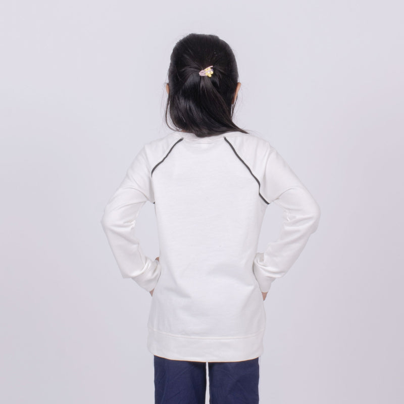 Sweat shirt anak putih
