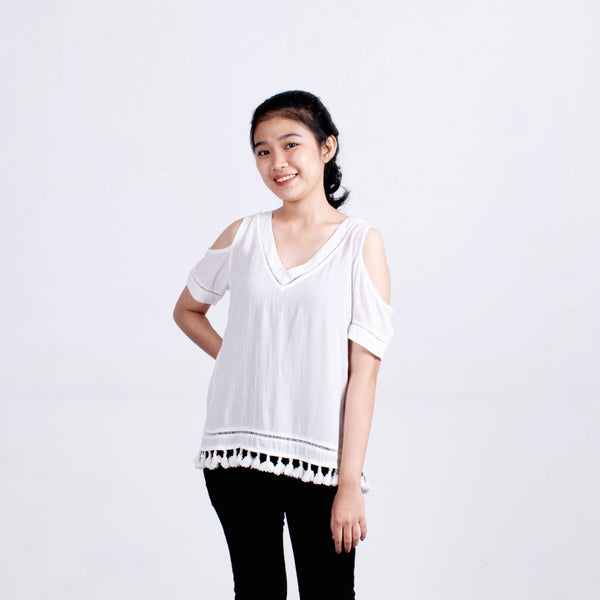 Blouse bahu bolong