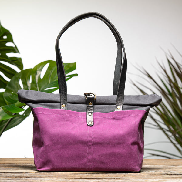 Fuchsia and Charcoal Grey Bag No. 3 - The Everywhere Bag