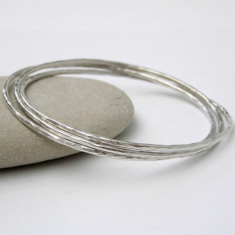 Dappled Silver Bangle by Anna K Baldwin