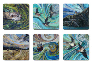 British Summertime Collection coasters by Rachel Wright
