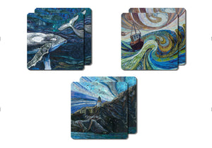 Coastal Collection set of 6 coasters by Rachel Wright
