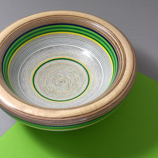 Upcycled Paper and Plywood Bowl by Graham Lester