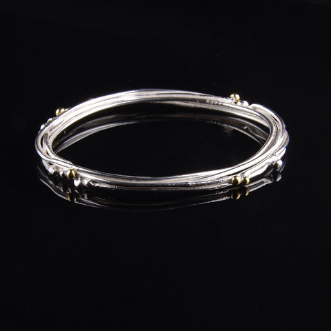 Silver fused wire bangle by Cathy Timbrell