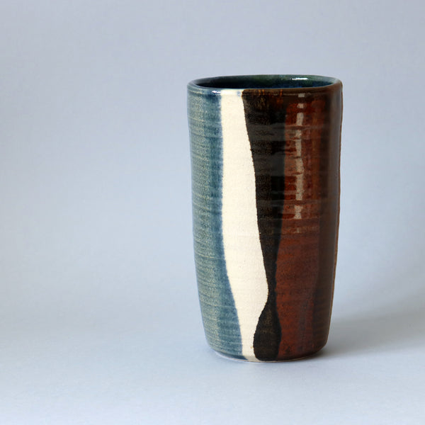 Tall Striped Vase