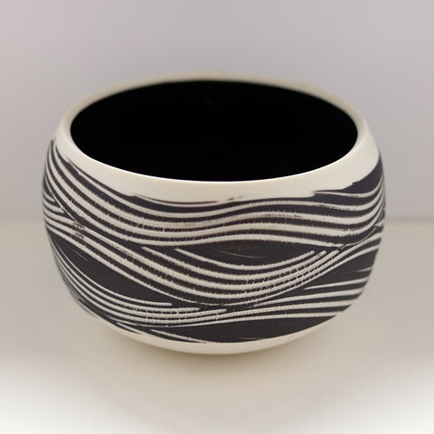 Winter Field Porcelain Bowl by Kirsteen Holuj