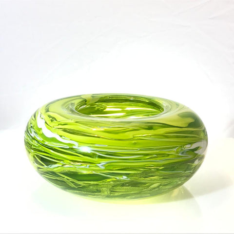 Lime Birds Nest Bowl by Alison Vincent