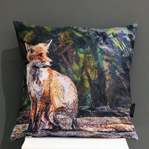 Fox Cushion by Rachel Wright