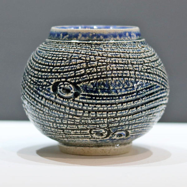 Winter Sea round vase