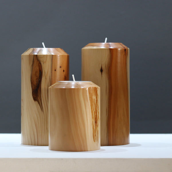Wooden Candlesticks by Rosemary Wright