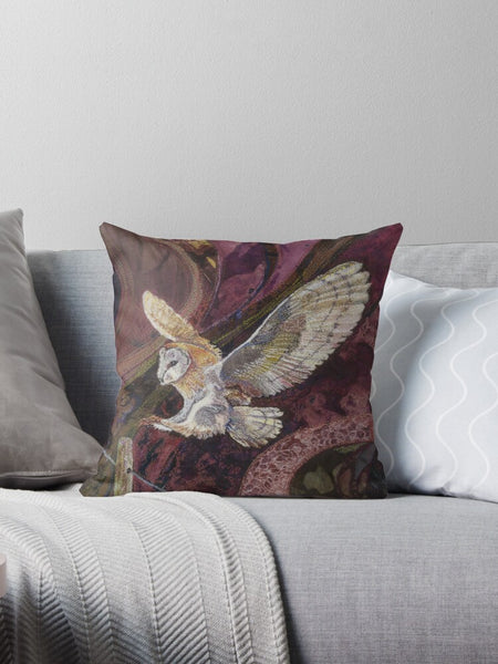 Coming in to Land Cushion by Rachel Wright