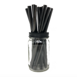 Thick Smoothie BLACK Stainless Steel Straws