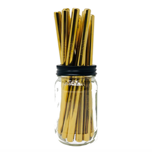 Thick Smoothie GOLD Stainless Steel Straws