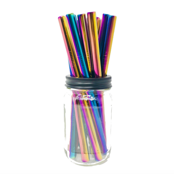 Thick Smoothie HOLOGRAPHIC Stainless Steel Straws
