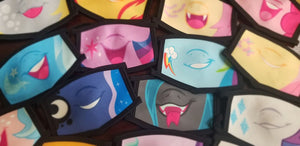 PONY FACES - Face masks-42 Designs