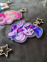 Load image into Gallery viewer, Large Holographic Mane 6 Keychains