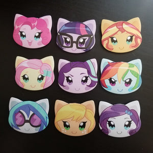 Equestria Girls Head Buttons