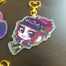Load image into Gallery viewer, [HOLOGRAPHIC] K/DA League of legends Keychains