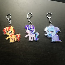 Load image into Gallery viewer, Sunset Starlight Trixie Keychains