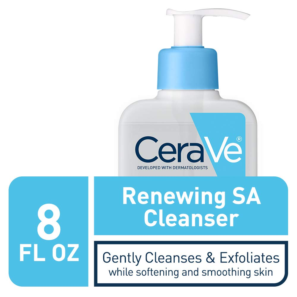 CeraVe Salicylic Acid Cleanser | 8 Ounce | Renewing Exfoliating Face Wash with Vitamin D for Normal Skin | Fragrance Free