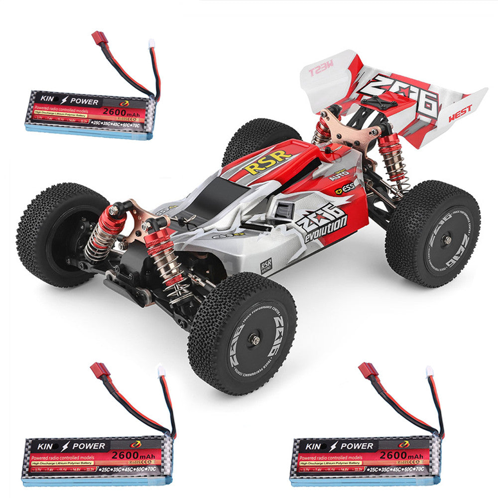 Wltoys 144001 1/14 2.4G 4WD High Speed Racing RC Car Vehicle Models 60km/h Two Battery 7.4V 2600mAh