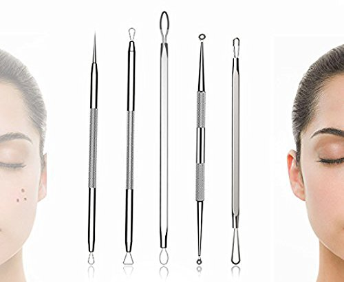 EISHO 2020 New Blemish Extractor Pus Removal Tool Set Stainless Acne Needle Blackhead Whitehead Pimple Removal