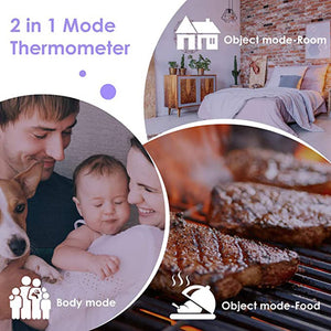 Infrared Non-Contact Digital Thermometer Instant Read LED Display Smart Thermometer Portable Body Thermometer