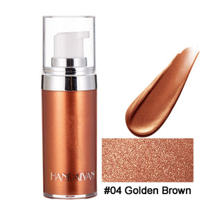 HANDAIYAN 20ml Metallic Face Highlighter Makeup Body Bronzer Luminizer Face Brighten Contouring Liquid Highlighter Palette TSLM2