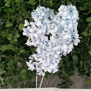 95cm Silk Hydrangea White Branch Drifting Snow Gypsophila  Artificial Flowers Cherry Blossoms Wedding Arch Decorate Fake flower