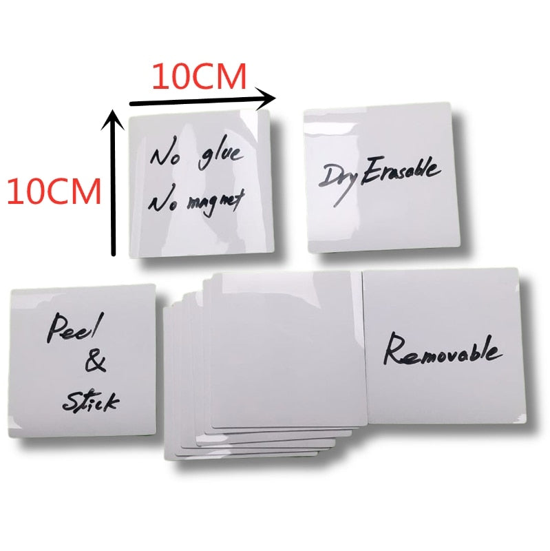 Dry Wipe Sticky Notes Pad, Removable Reusable Labels Sticker for Storage Bins, Waterproof Adhesive Labels for Bottles, G