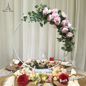 6pcs/set White Color Small circular arch Metal flower stand for Wedding Event Decor