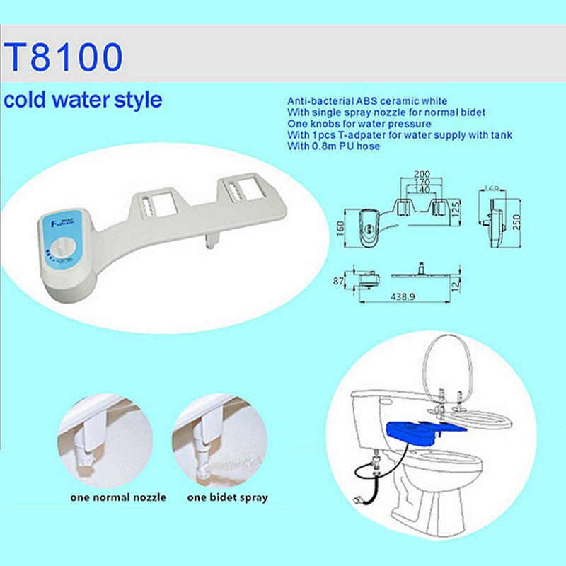 Cold/Heated Water Toilet Seat Bidet Sprayer Bidet Attachment Fresh Water Spray Non-electric Mechanical Shower Nozzle save paper