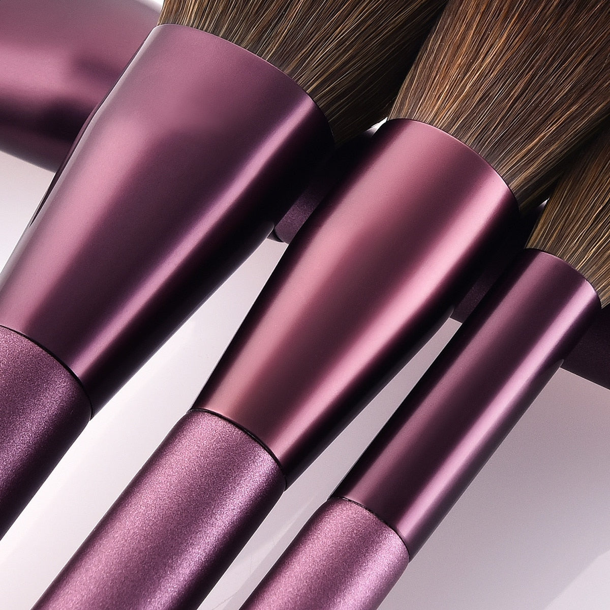 12pcs Purple Lilac Color Makeup Brushes Eye Shadow Concealer Foundation Eyebrow Blush Bronzer Lip Powder Beauty Makeup Brush Set